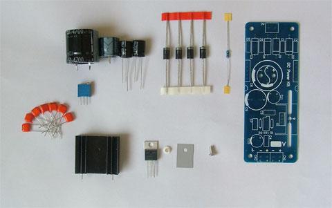 基于lt1084的大电流线性可调电源板