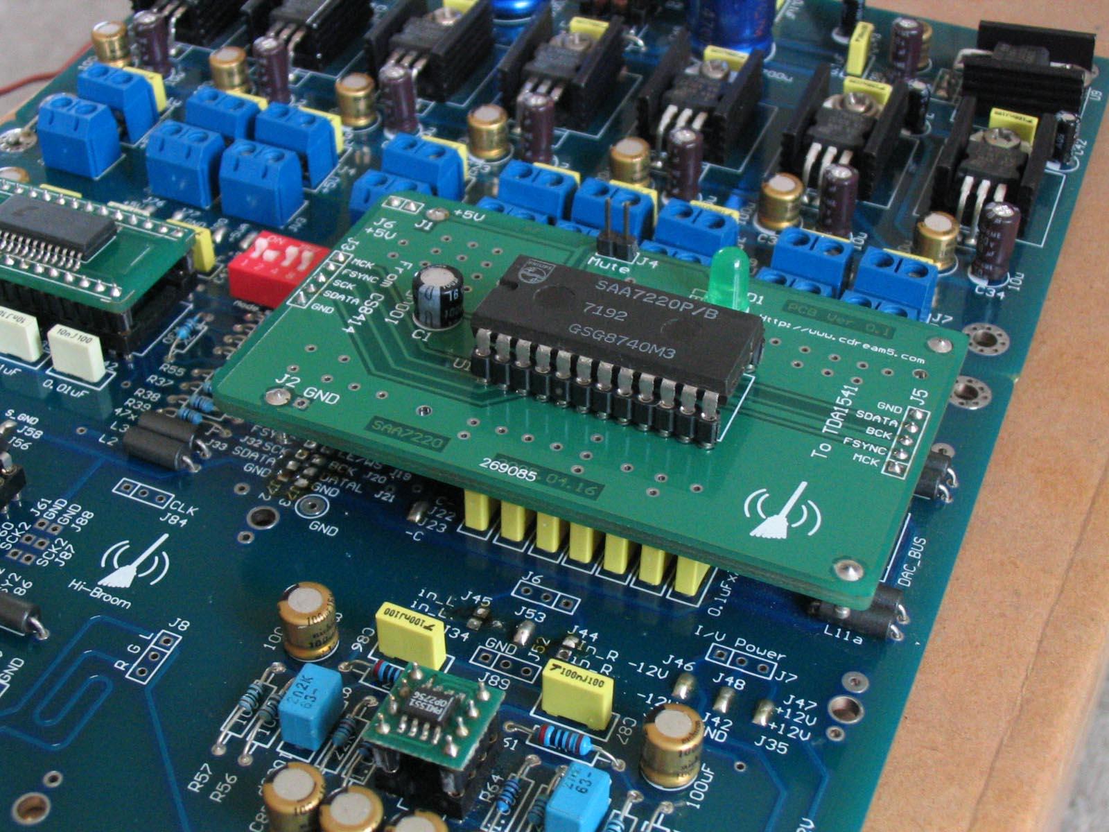 基于tda1541a的dac解码板